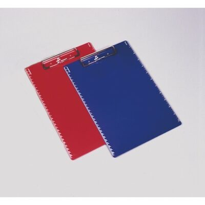 red and blue plastic clipboards