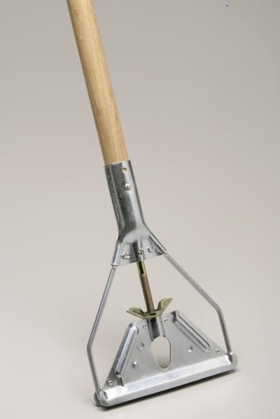 Image wooden mop handle screw type
